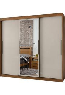 Guarda Roupa Taurus 3 Portas Com Espelho Rovere Naturale/Off White