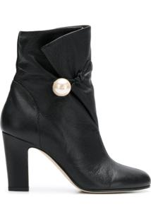 Jimmy Choo Ankle Boot 'Bethanie 85' De Couro - Preto
