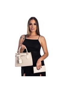 Kit Bolsa + Carteira Feminina Fashion Blogueira Gelo