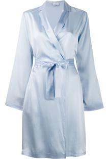 La Perla Roupão De Seda - Azul