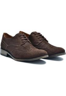 Sapato Casual Couro Sartre Masculino - Masculino-Café