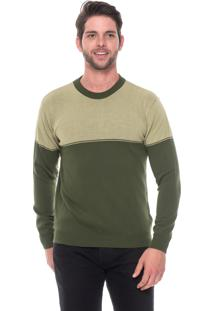 Blusa Passion Tricot Ff Bicolor Verde