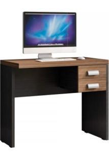 Mesa Para Computador 2 Gavetas Studio Caemmun Lp Argan/Preto Tex