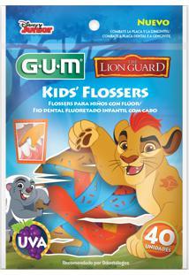 Fio Dental Infantil Gum Flosser Disney A Guarda Do Leão 40 Unidades