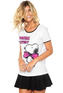 Camiseta Fiveblu Snoopy Delivery Branca