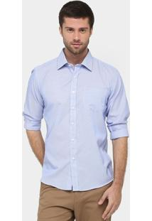 Camisa Blue Bay Listrada Fio Tinto - Masculino