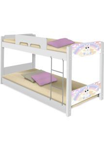 Beliche Baixa Adesivada Unicã³Rnio Baby Casah - Branco/Rosa - Menina - Dafiti