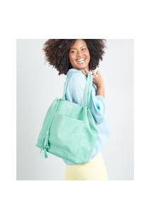 Bolsa Grande Camurça - Verde Soulier