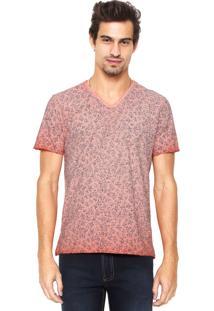 Camiseta Aramis Regular Fit Estampada Laranja