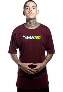 Camiseta Wanted Custom Way Bordô