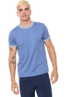 Camiseta Fiveblu Recortes Azul/Branca