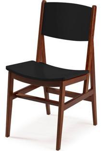 Cadeira Dumon Cor Cacau Com Preto - 30781 - Sun House
