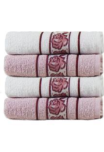 Kit Toalha De Banho 4 Peã§As Beauty - Appel - Pã©Rola/Rosa - Rosa - Dafiti