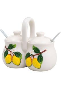 Porta Condimento Limão Branco