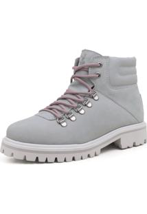 Bota Térmica Fiero Linha Neve Explorer Discover Forro Thermal Warm Protection Cinza