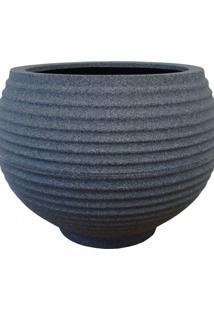Vaso Para Plantas Redondo Em Polietileno 54 Esfera Lattice 46Cmx37Cm Japi Grafite
