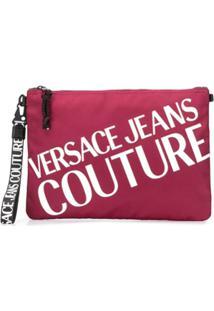 Versace Jeans Couture Clutch Com Logo Contrastante - Vermelho