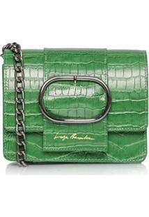 Bolsa Pequena Em Couro Verde