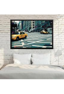 Quadro Love Decor Com Moldura New York City Preto Médio
