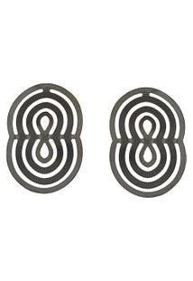 Brinco Narcizza Oval Transpassado - B322(3)