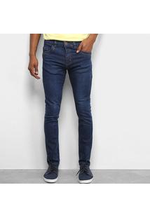 Calça Jeans Tbt Skinny Masculina - Masculino-Azul