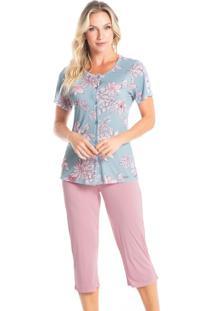 Pijama Pescador Abotoado Miriam - Azul/P