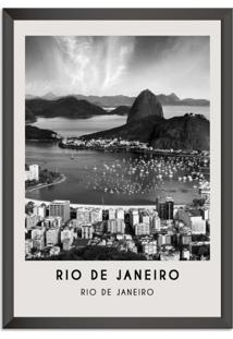 Quadro Oppen House 65X45Cm Cidades Rio De Janeiro Brasil Moldura Preta Sem Vidro - Oppen House Decora