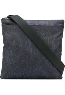Etro Paisley Embroidered Bag - Azul