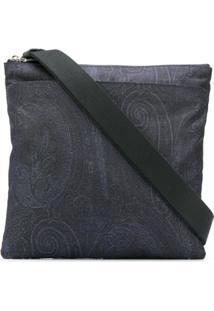 Etro Paisley Embroidered Bag - Azul