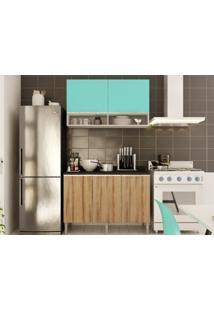 Cozinha Compacta Com Balcão E Aéreo Essence Acqua/Desira - Aroma