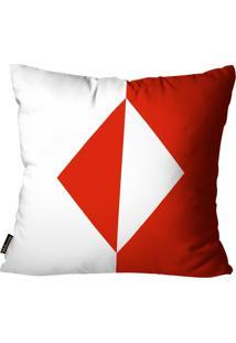 Capa Para Almofada Premium Cetim Mdecore Naipe Vermelha 45X45Cm