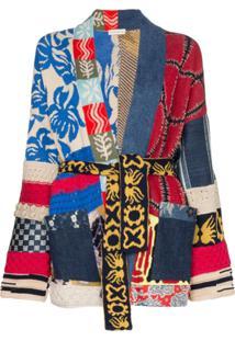 Etro Jaqueta Kimono Com Patchwork - 8000 Multicolor
