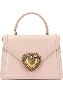 Dolce & Gabbana Bolsa Tiracolo Devotion Grande - Rosa