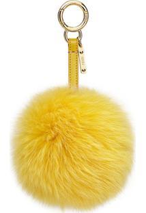 Fendi Pingente De Pompom - Amarelo