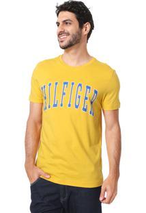 Camiseta Tommy Hilfiger Logo Amarela