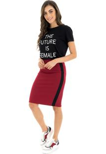 T-Shirt La Mandinne The Future Is Female Preto