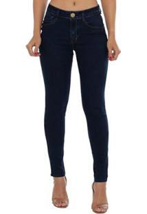 7ee6ef840 ... Calça Jeans Denuncia Mid Rise Skinny Feminina - Feminino-Azul Escuro