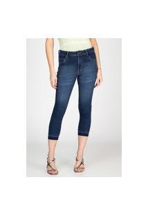 Calça Jeans Skinny Bloom Detalhe Barra