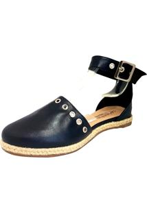 Ankle Flat Sapatilhas No Saquinho Espadrille Preto