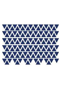 Adesivo De Parede Triângulos Azul Royal 121Un