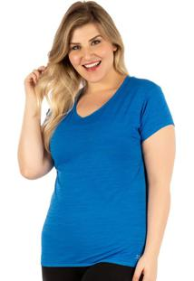 Camiseta Plus Azul Baby Look | 553.822P