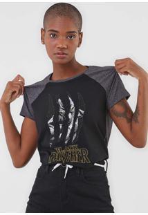 Camiseta Cativa Marvel Pantera Negra Preta - Preto - Feminino - Algodã£O - Dafiti
