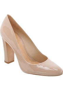 Sapato Tradicional Em Couro- Nude- Salto: 9,8Cmschutz