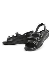 Sandalia Top Franca Shoes Feminina Conforto Preto