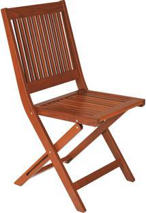 Cadeira Dobrável De Madeira Tramontina 10855076 Terrazzo Fitt