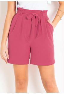 Short Clochard Com Amarração Rosa Pink