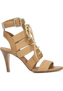 Chloé Sandália Com Amarração - Marrom