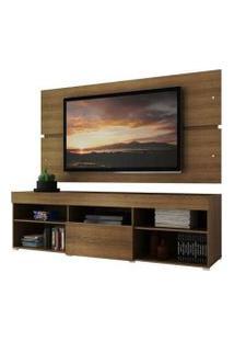 Rack Com Painel Para Tv Até 65 Polegadas Madesa Havaí 1 Porta Rustic