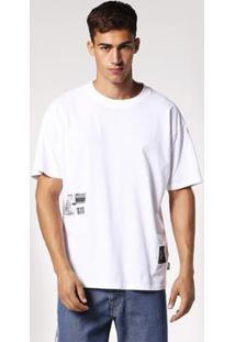Camiseta Diesel T-Wallace Rb Masculina - Masculino-Branco