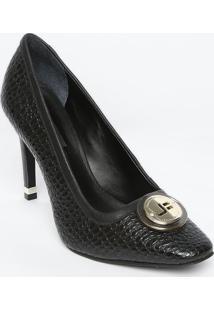 5f5afca8ca ... Sapato Tradicional Em Couro Com Aplicação- Preto- Sajorge Bischoff